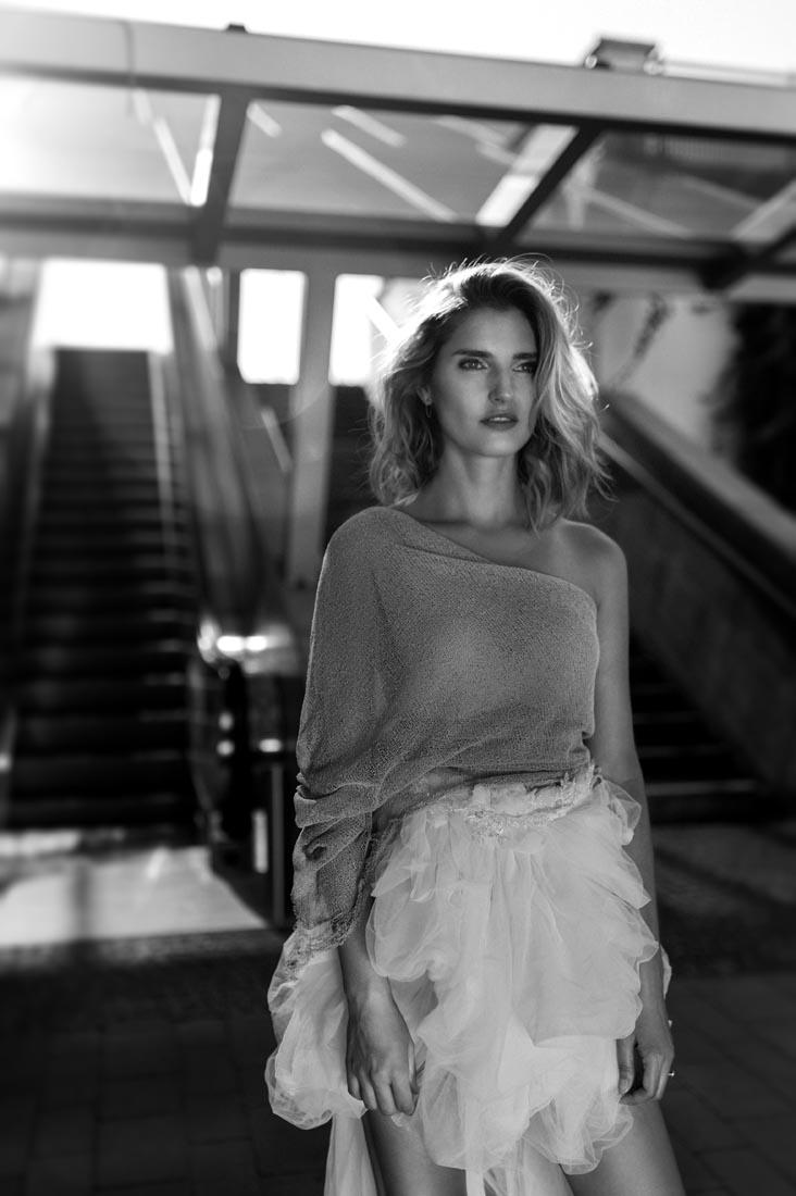 Zdjęcie modowe z modelką z Nowego Jorku